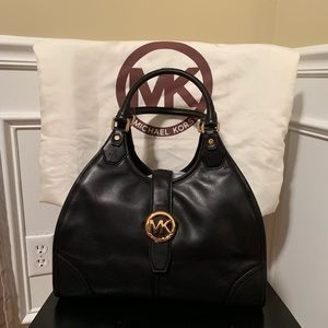 Michael Kors vintage black leather handbag